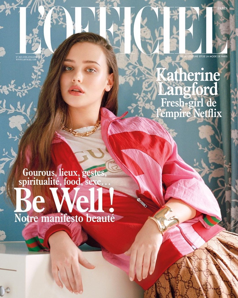 Katherine Langford on L'Officiel Paris June-July 2018 Cover