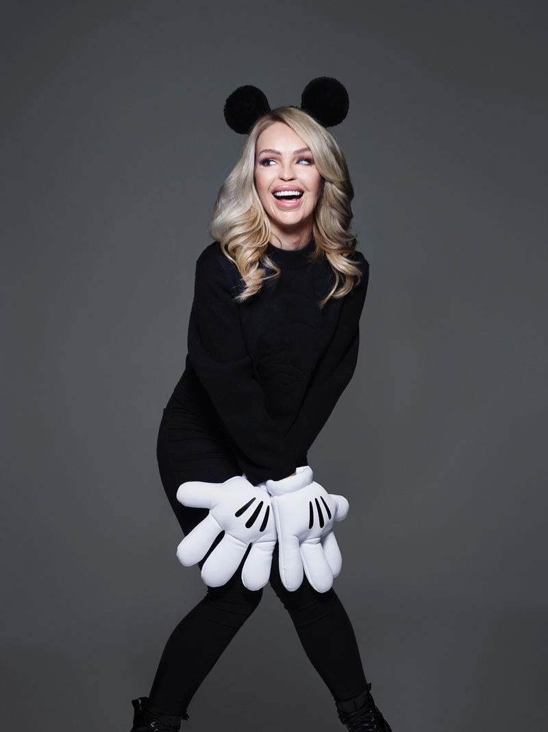 Katie Piper stars in Mickey Mouse & Me book. Photo: Rankin