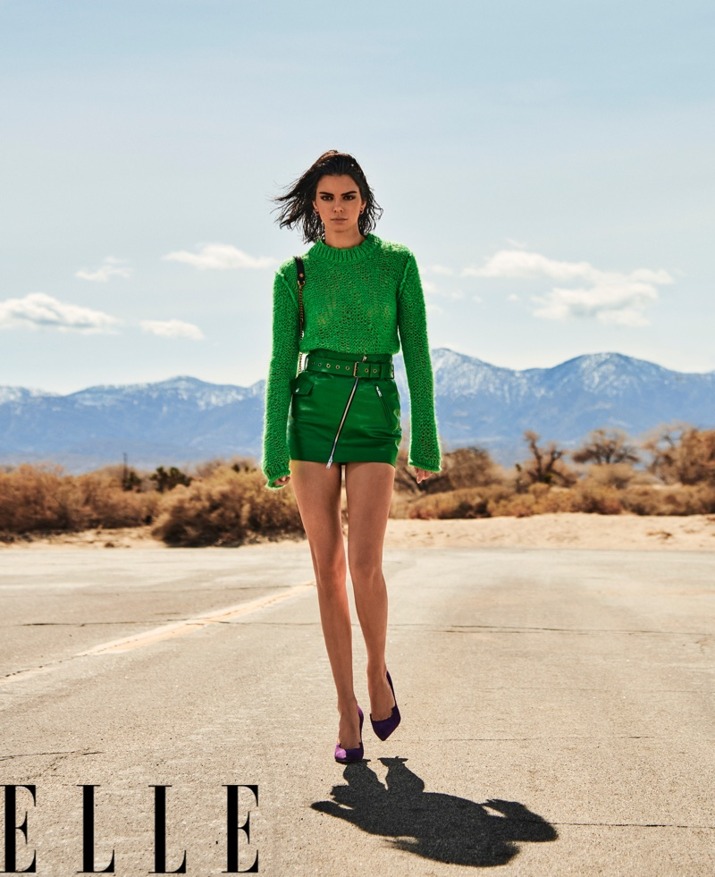 Kendall Jenner Hits the Road in Sultry Styles for ELLE