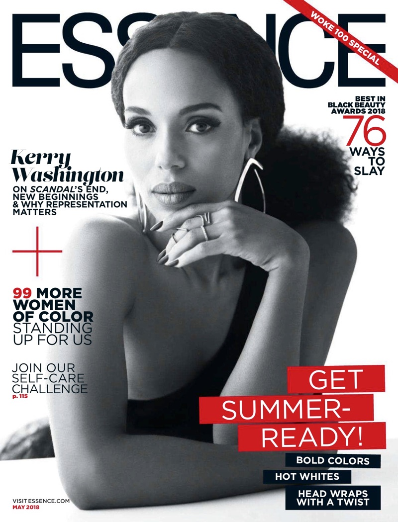 Kerry Washington on Essence Magazine May 2018 Cover