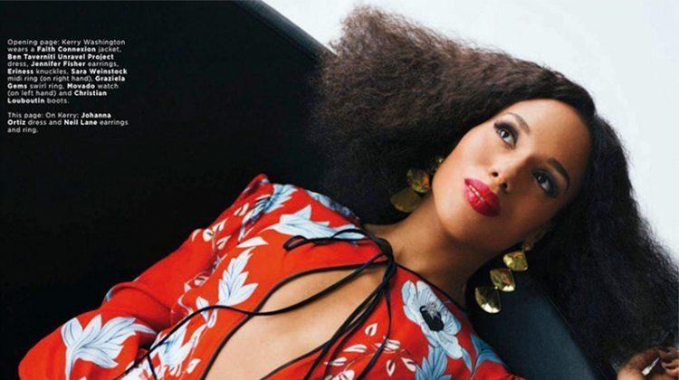 Kerry Washington Poses in Elegant Styles for Essence Magazine