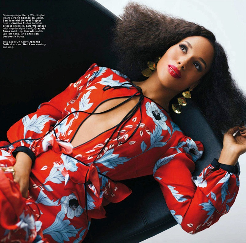 Kerry Washington Poses in Elegant Styles for Essence Magazine