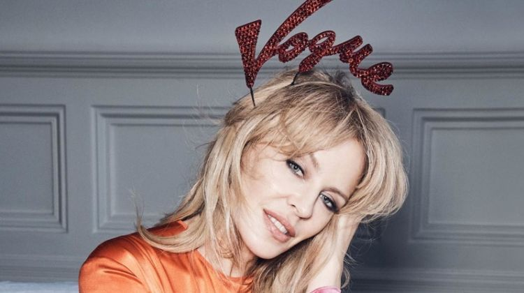 Kylie Minogue Wears Celebratory Fashion for Vogue Australia