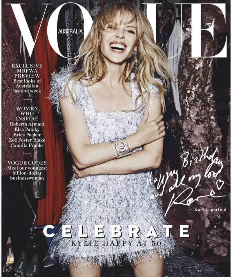 Kylie Minogue on Vogue Australia May 2018 Cover