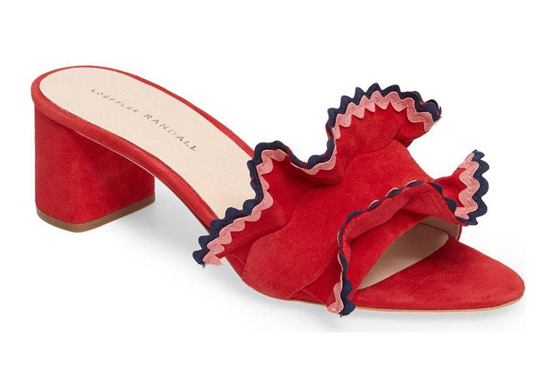 Loeffler Randall Vera Ruffled Sandal Slide $224.98 (previously $375)