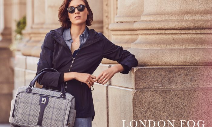 Alison Nix Models Chic Styles for London Fog's Spring 2018 Campaign