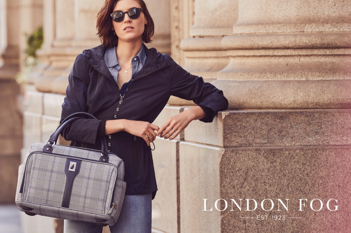 Alison Nix stars in London Fog's spring-summer 2018 campaign