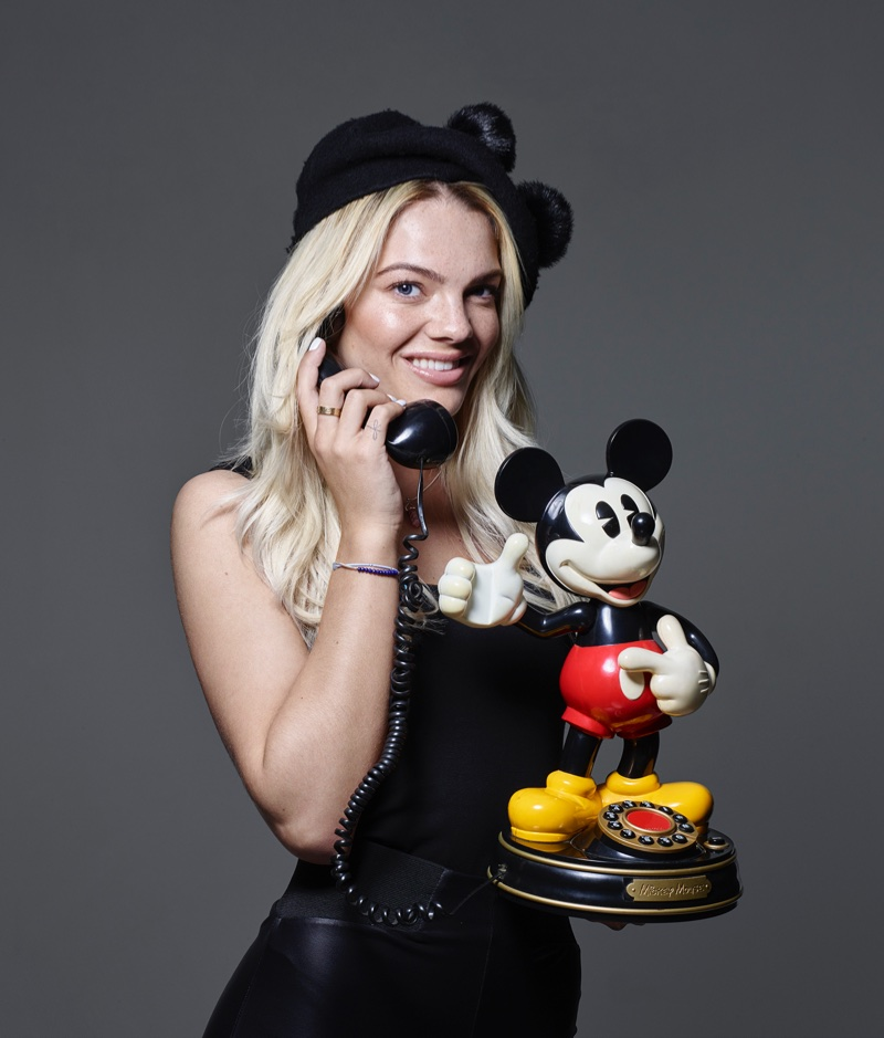 Louisa Johnson appears in Mickey Mouse & Me. Photo: Rankin