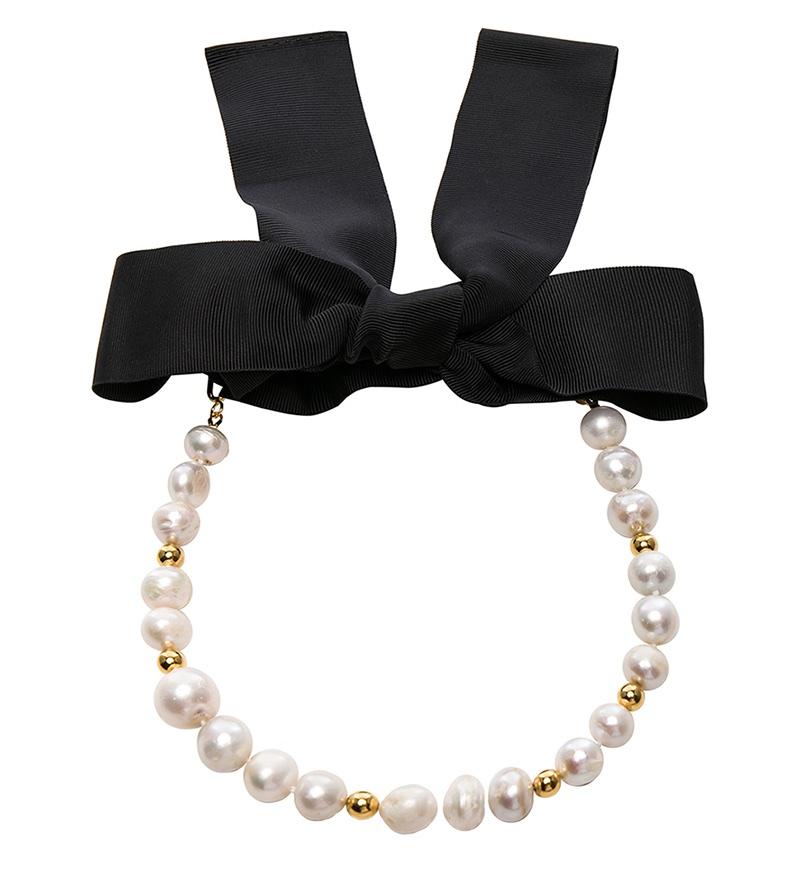 Magda Butrym Pearl Choker Necklace $863