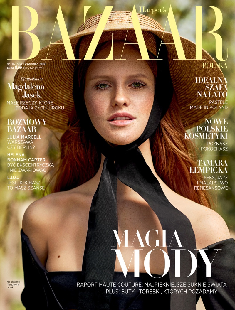 Magdalena Jasek is a Natural Beauty in Harper's Bazaar Poland