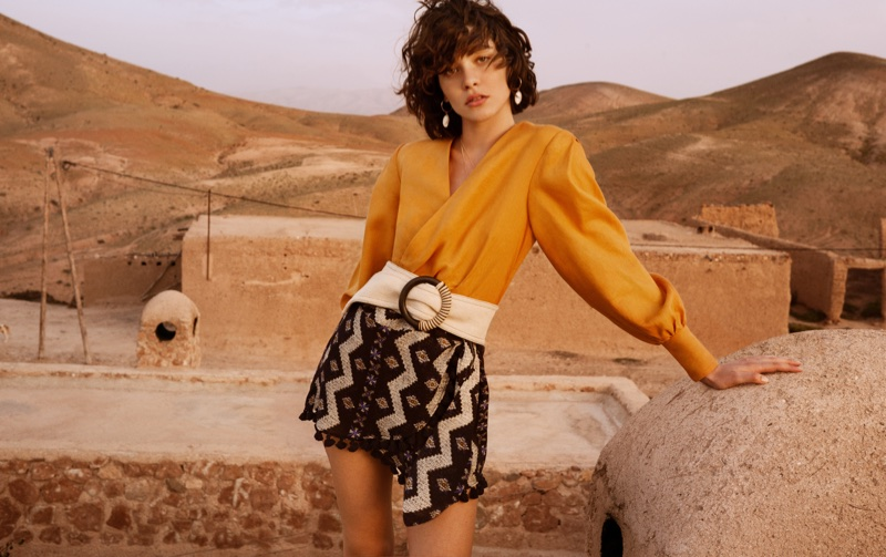 Steffy Argelich appears in Mango Summer Diaries lookbook