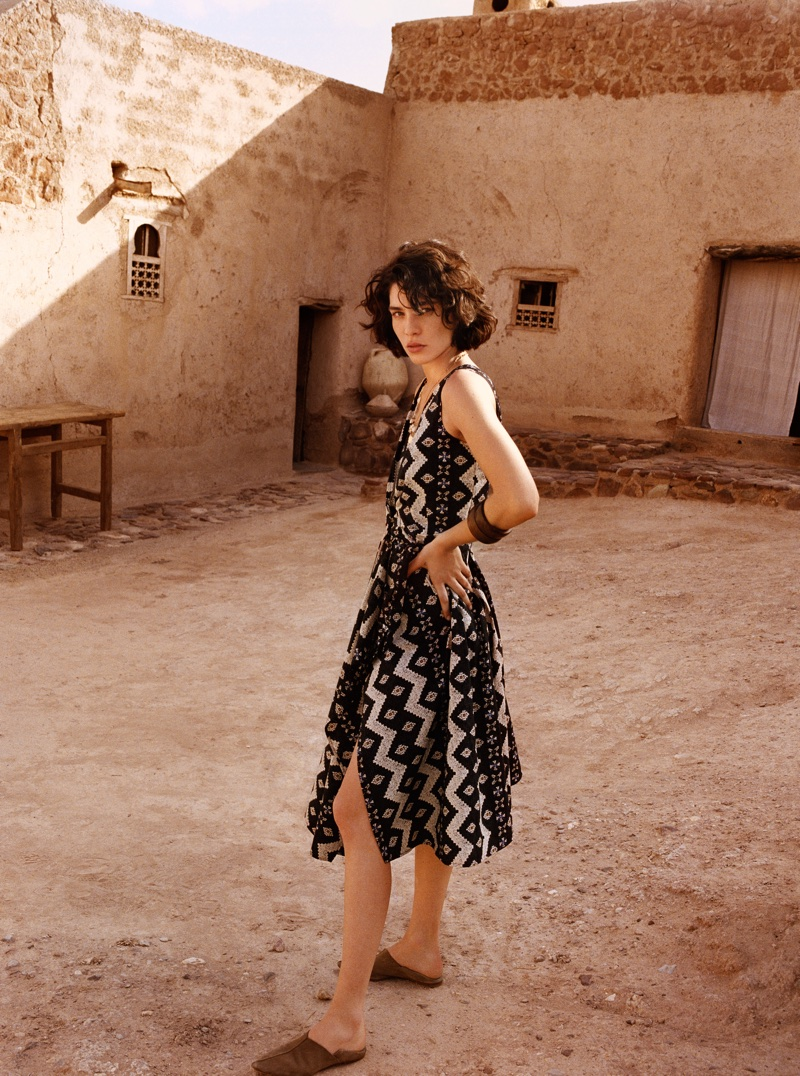 Mango features worldly prints in its Summer Diaries lookbook