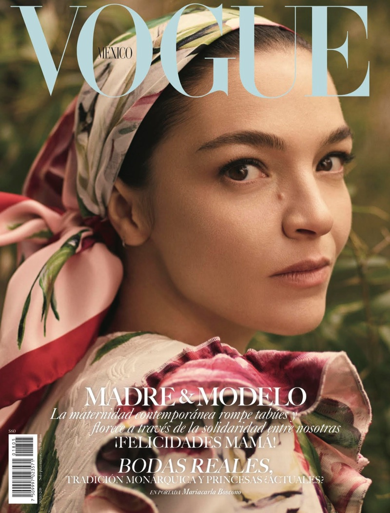 Mariacarla Boscono Poses in The Prettiest Prints for Vogue Mexico