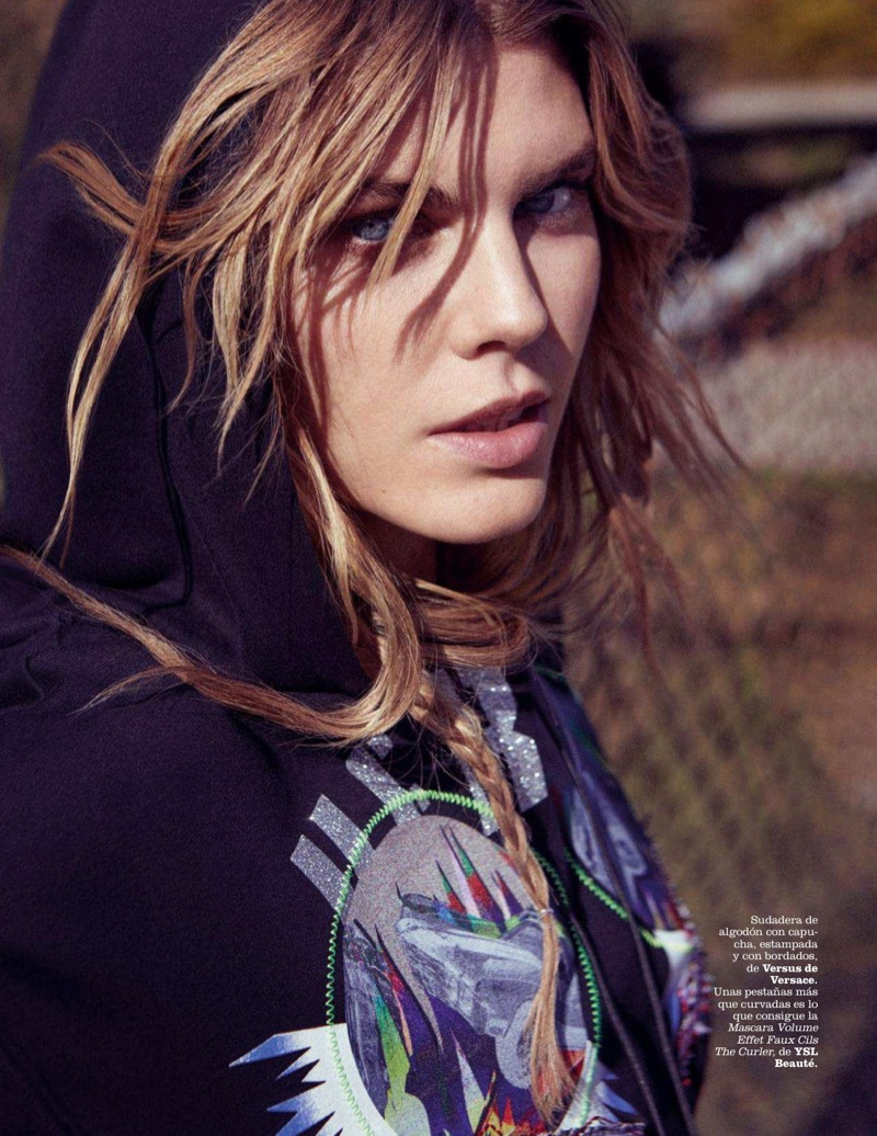 Maryna Linchuk Rocks Denim Looks for Marie Claire Spain