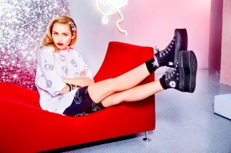 Miley Cyrus wears Miley Cyrus x Converse sneaker collaboration