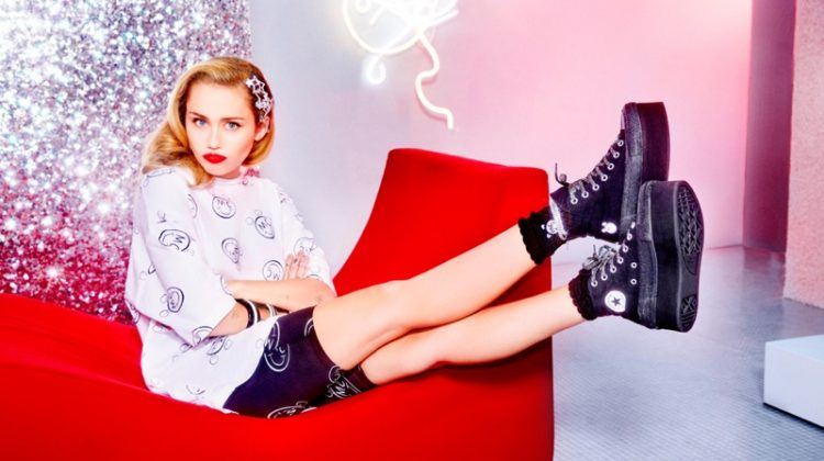 Miley Cyrus Teams Up with Converse On Glittery Sneakers