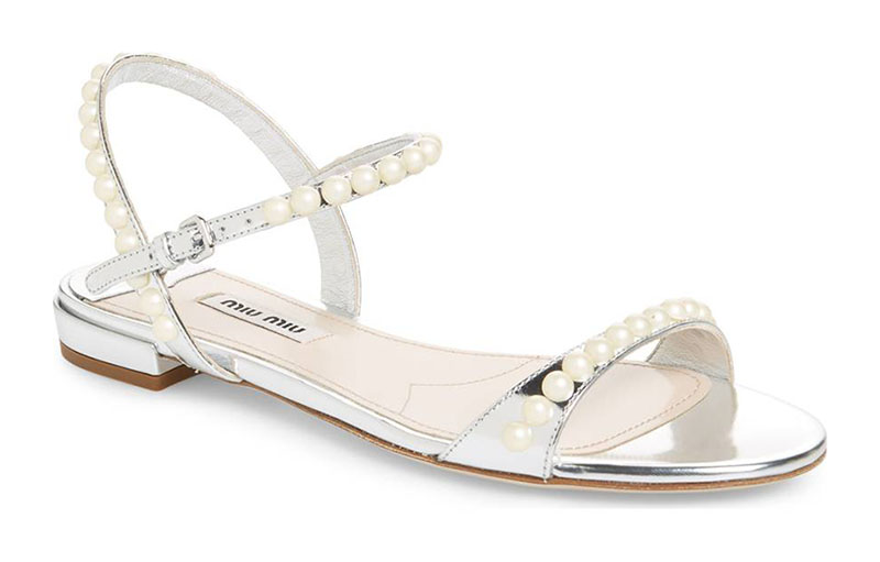 Miu Miu Pearl Sandal $413.98 (previously $690)