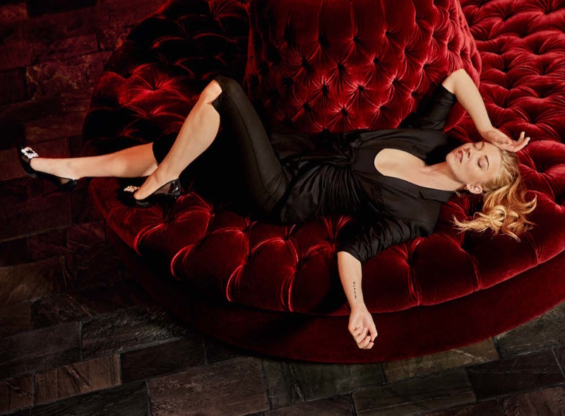 Lounging in style, Natalie Dormer wears all-black Jacquemus look with Roger Vivier heels