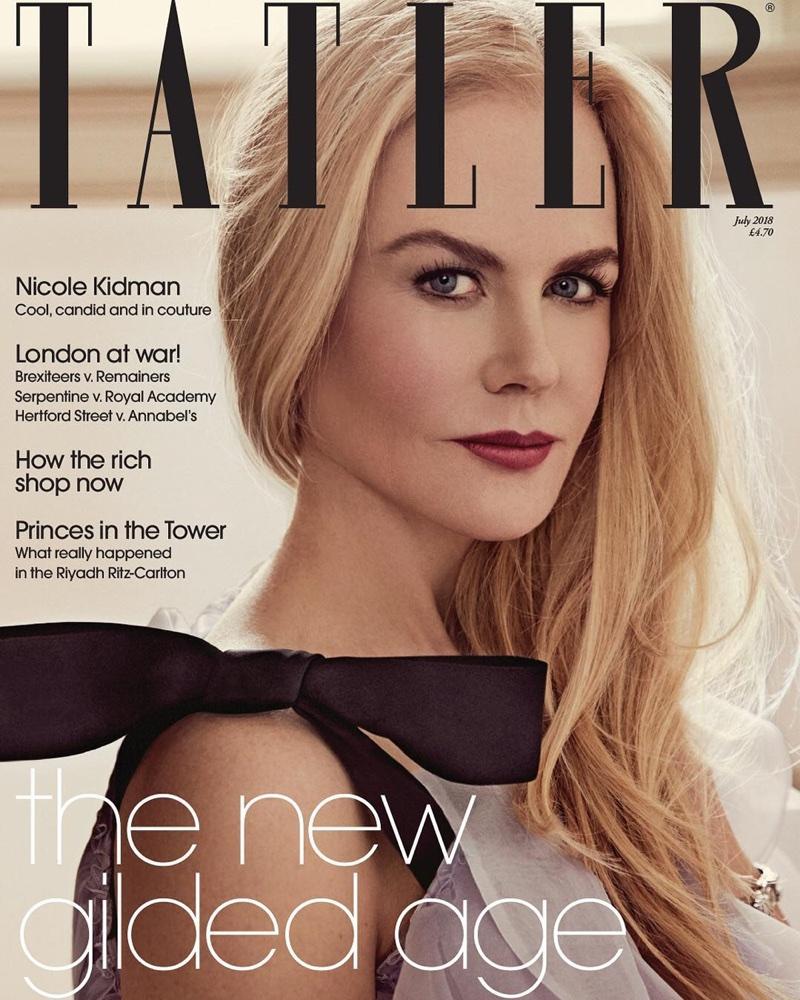 Nicole Kidman on Tatler UK July 2018 Cover