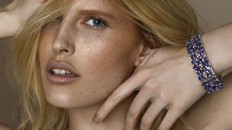 Niki Trefilova Shines in Colorful Jewelry for L'Officiel Baltics