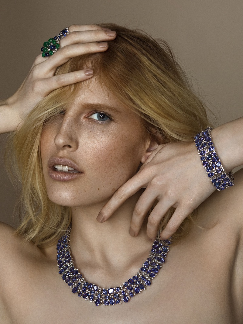 Niki Trefilova Shines in Colorful Jewelry for L'Officiel Baltics