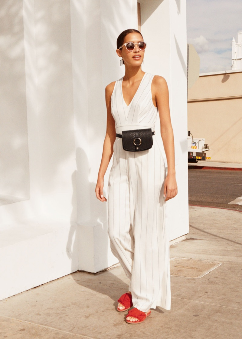& Other Stories Belted Linen Blend Trousers and Knotted Suede Slip Ons
