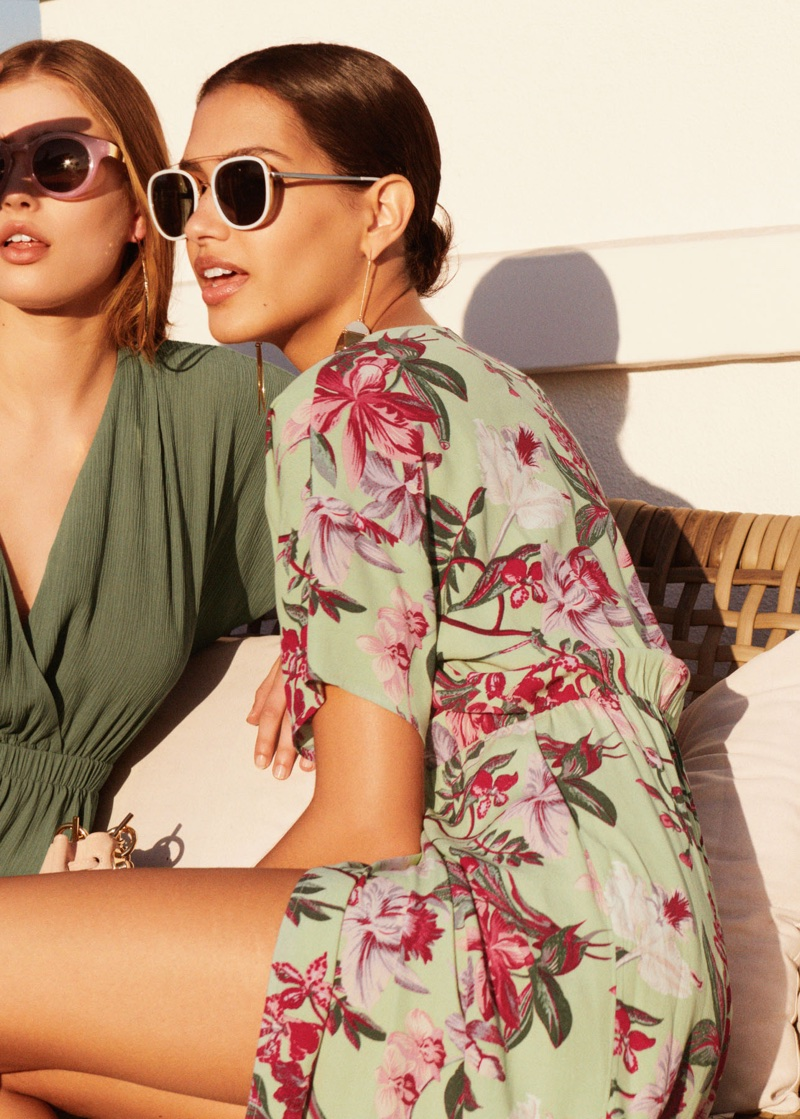 (Left) & Other Stories Sleeveless Wrap Dress (Right) & Other Stories Shoulder Tie Mini Dress