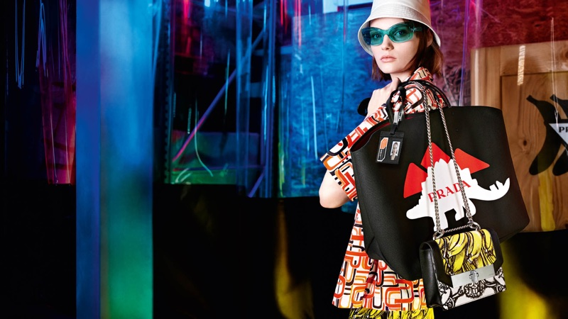 Bold prints stand out in Prada 365 pre-fall 2018 campaign