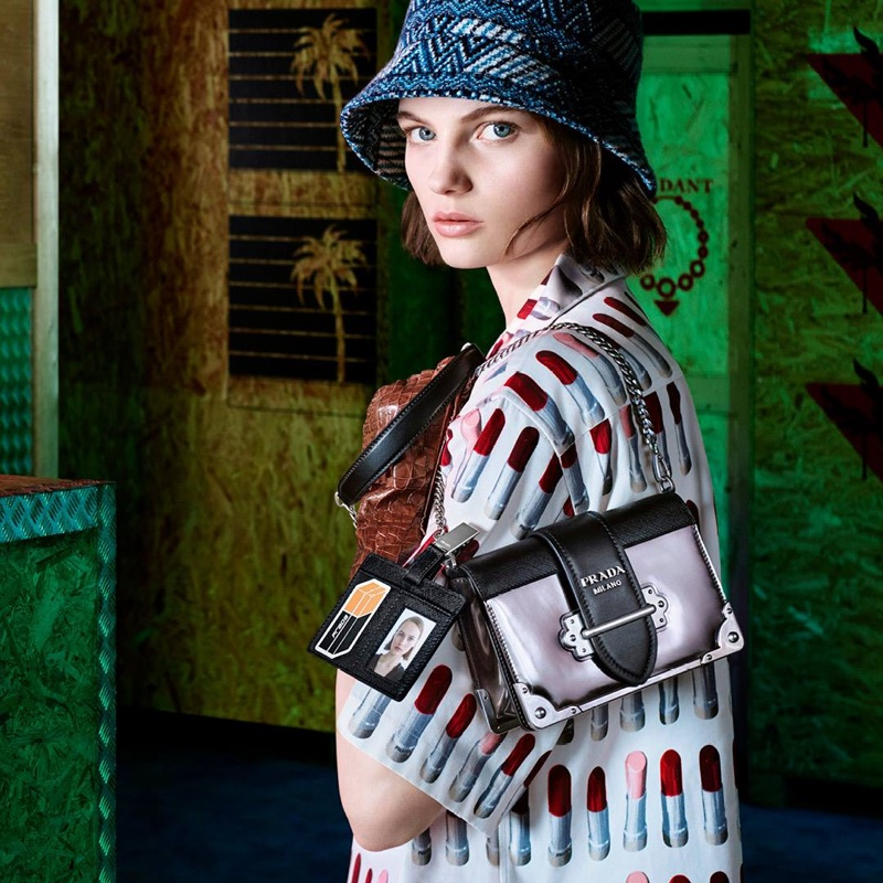 Fran Summers appears in Prada 365 pre-fall 2018 campaign