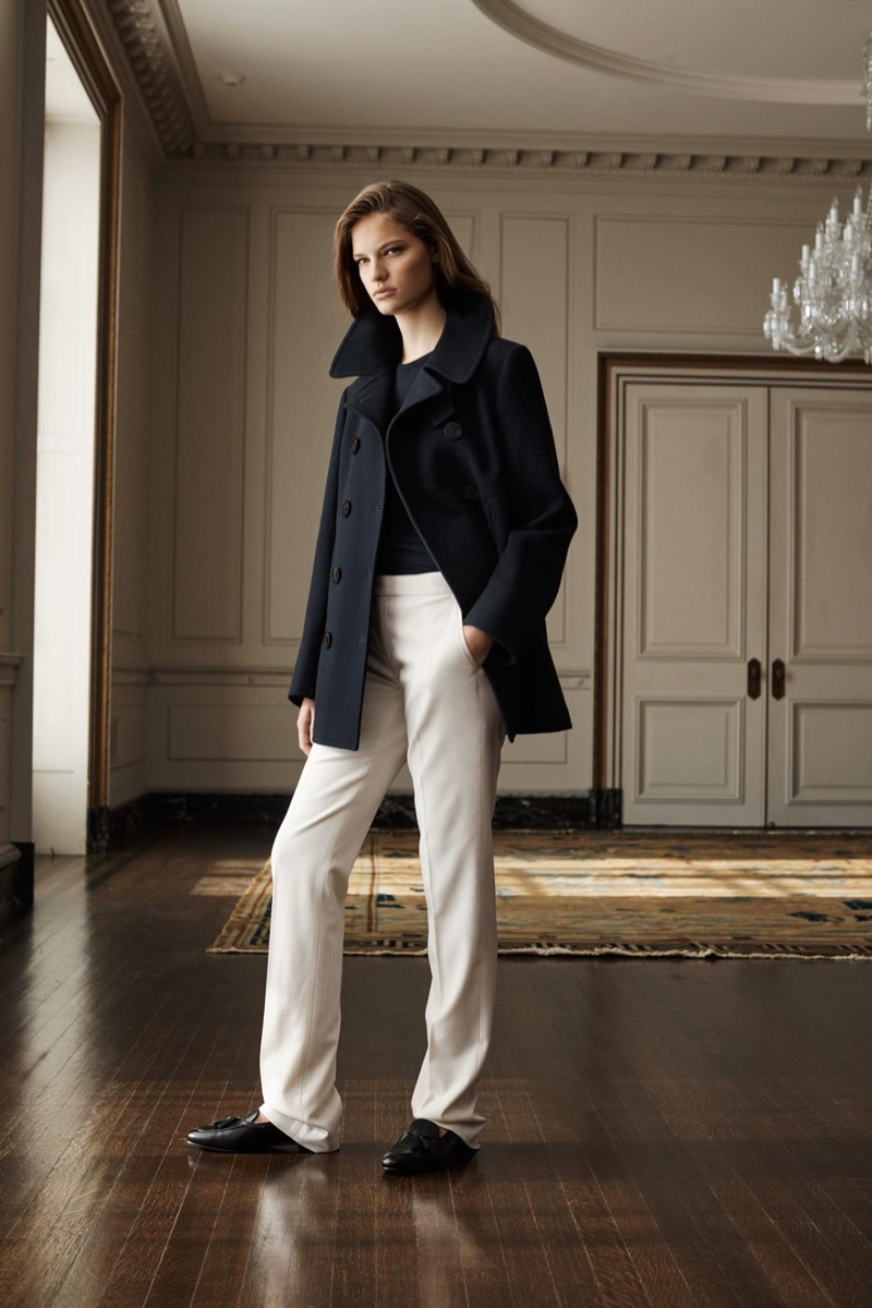 Farreta poses for Ralph Lauren Iconic Style collection