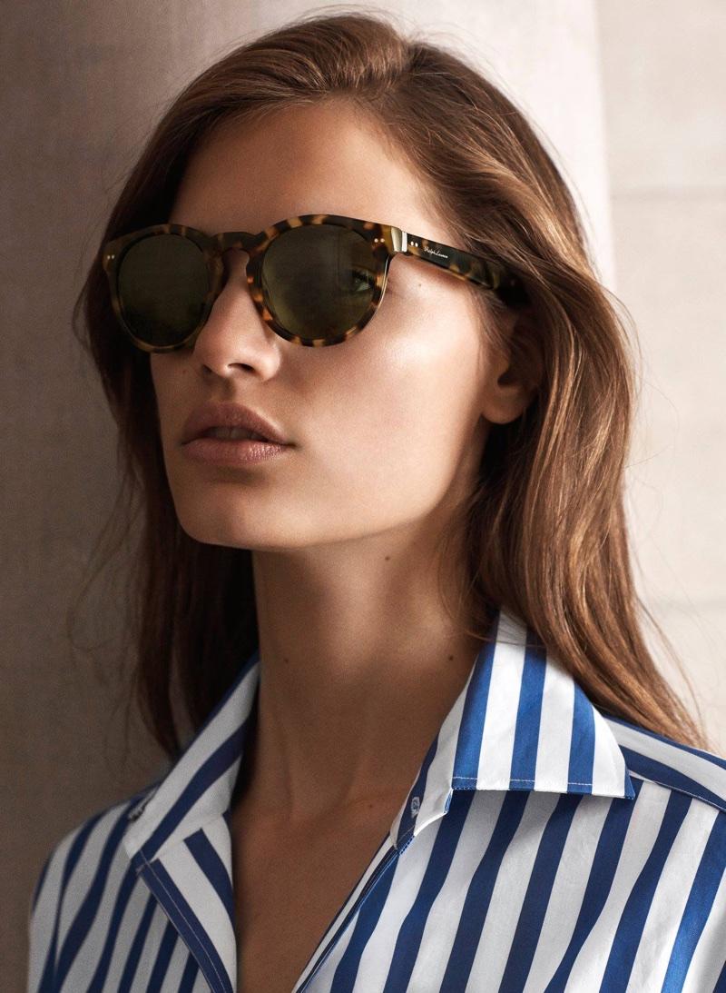 Faretta models Ralph Lauren The RL Bedford sunglasses