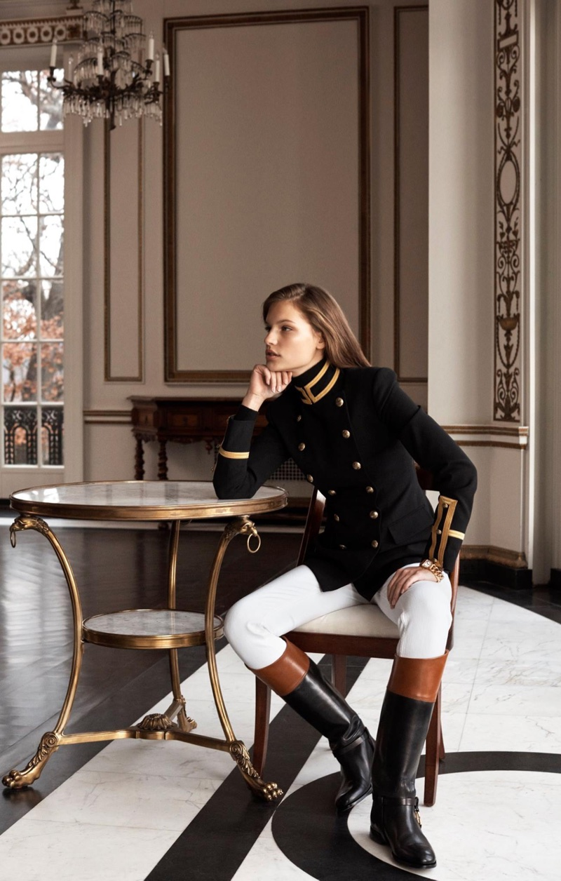 An outfit from Ralph Lauren's Iconic Style collection