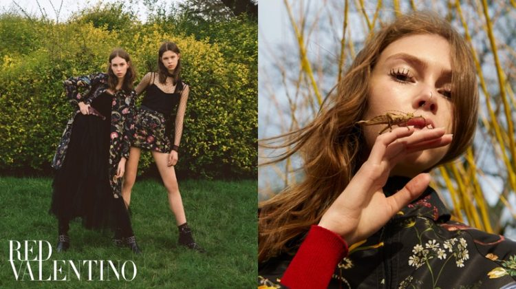 Lorena Maraschi and Iris Landstra star in RED Valentino's pre-fall 2018 campaign