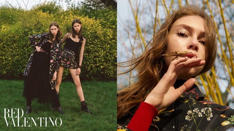Lorena Maraschi and Iris Landstra star in RED Valentino's pre-fall 2018 campaign