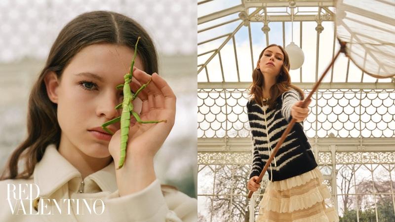 Lorena Maraschi and Iris Landstra front RED Valentino's pre-fall 2018 campaign