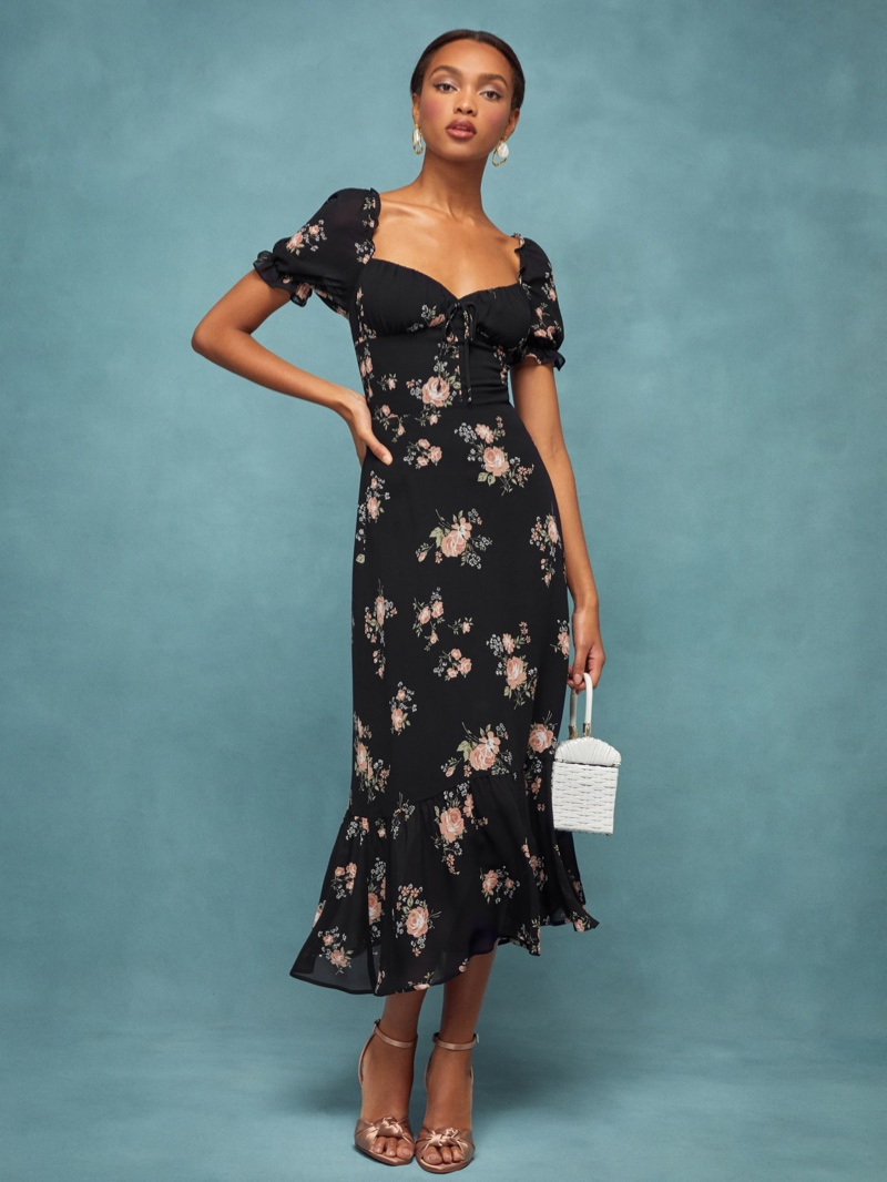 Reformation Cabernet Dress in Clarice $278