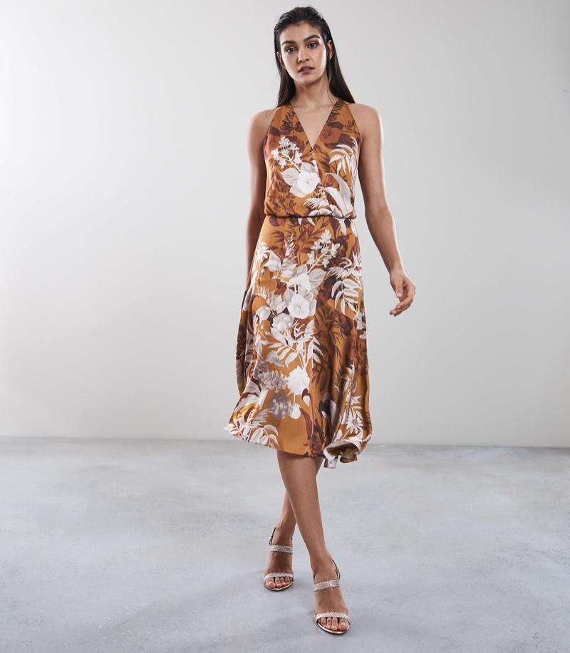 Reiss Anabela Strappy Back Midi Dress $370