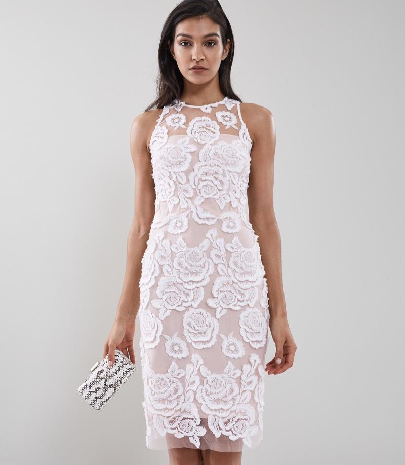 REISS Meghan Floral Lace Dress $475