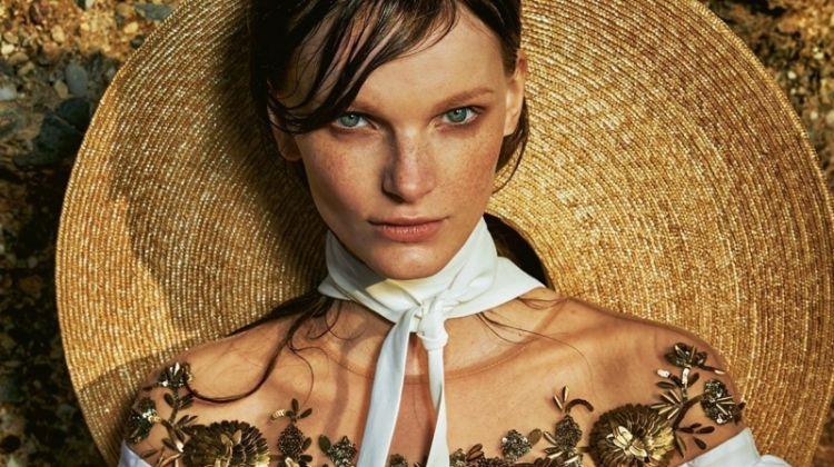Romana Umrianova Embraces Earthy Fashion for Grazia Italy