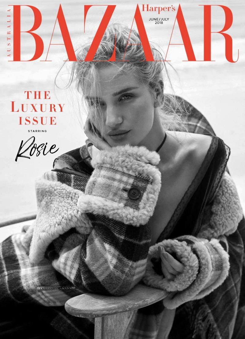 Rosie Huntington-Whiteley Models Pre-Fall Styles for Harper's Bazaar Australia