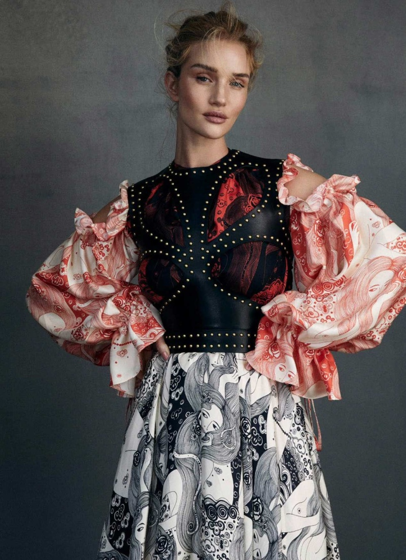 Rosie Huntington-Whiteley Models Pre-Fall Styles for Harper's Bazaar Australia