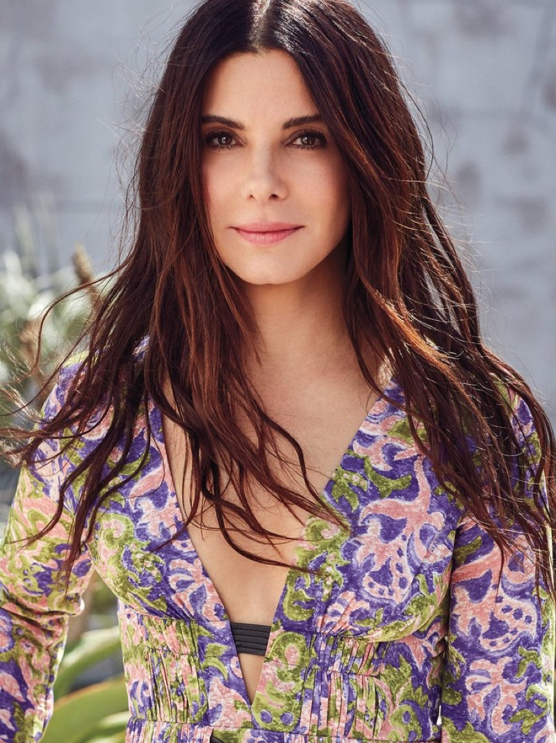 Sandra Bullock Poses in Bohemian Fashions for InStyle