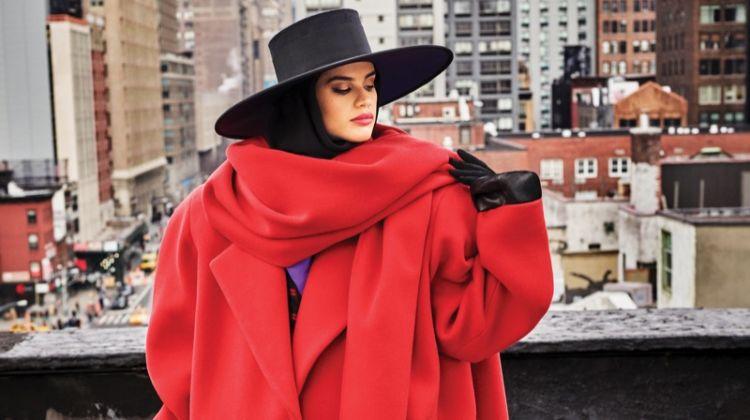 Sara Sampaio Poses with Incredibles 2's Edna Mode for Harper's Bazaar