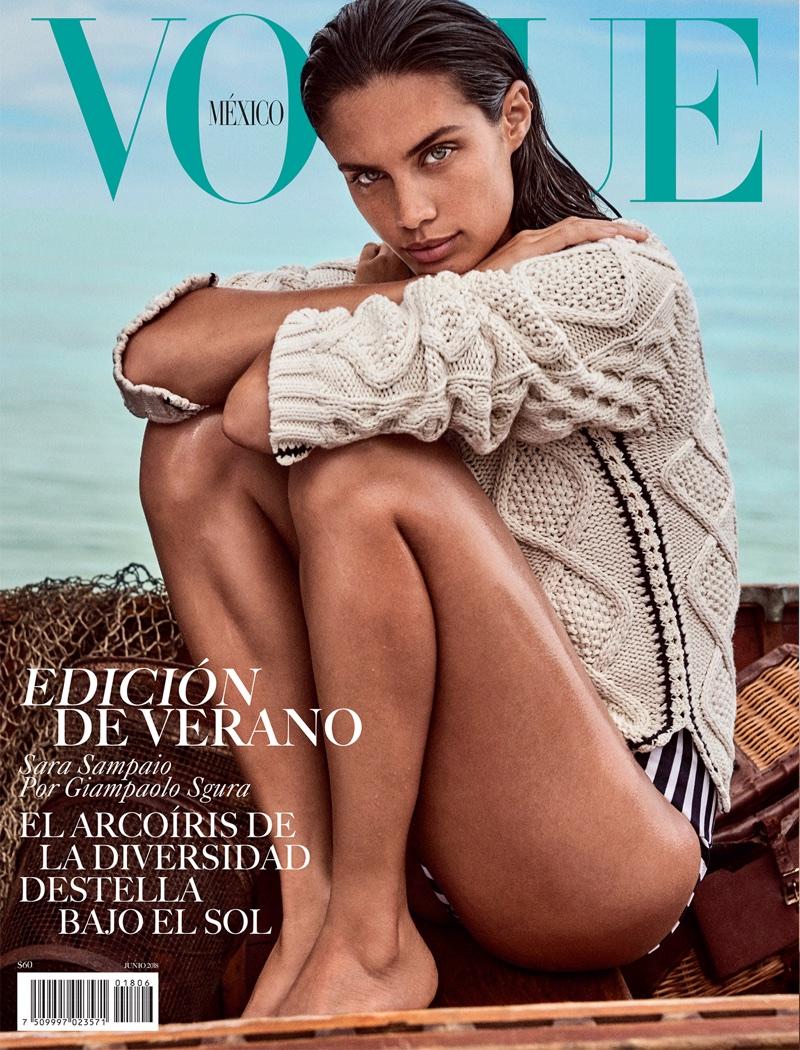 Sara Sampaio Dives Into Summer Style for Vogue Mexico