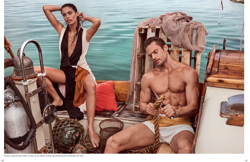 Sara Sampaio Dives Into Summer Style for Vogue Mexico