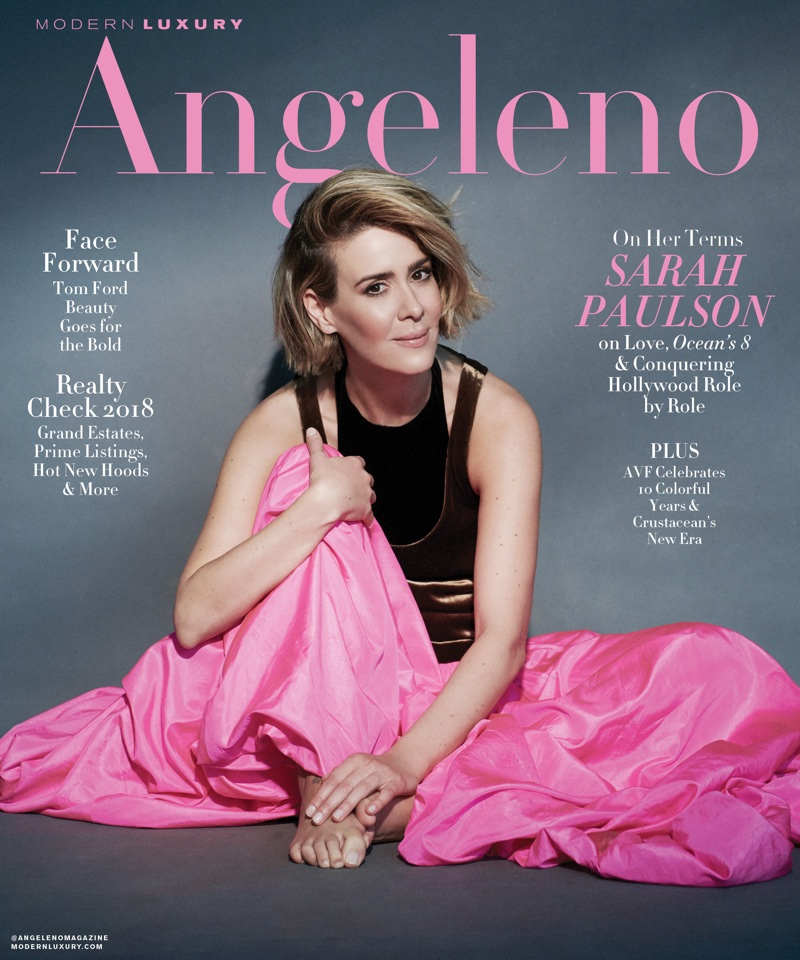 Sarah Paulson on Angeleno Magazine June 2018 Cover