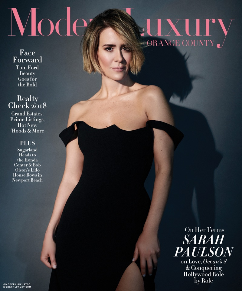 Sarah Paulson on Modern Luxury Orange County June 2018 Cover
