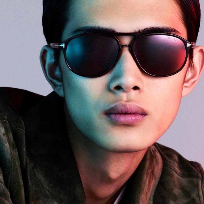 Tom Ford Eyewear 2018 digital campaign with Li Yufeng