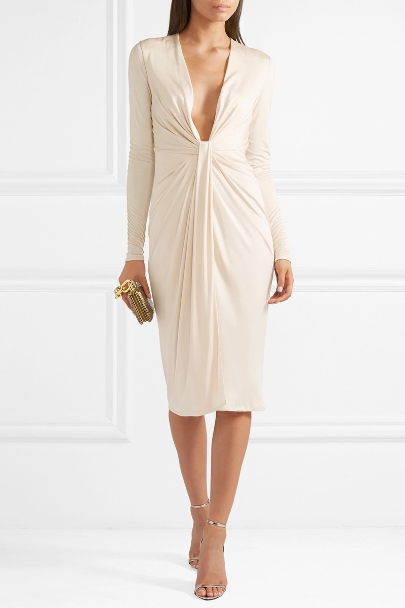 Tom Ford Twist-Front Satin Jersey Dress $1,770 (previously $2,950)
