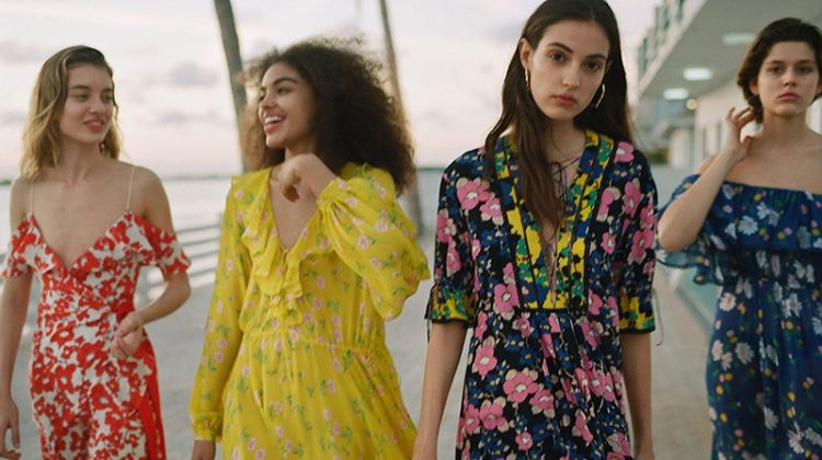TGiulia Maenza, Samantha Ellsworth, Camille Hurel and Vivienne Rohner star in Topshop's high summer 2018 campaign